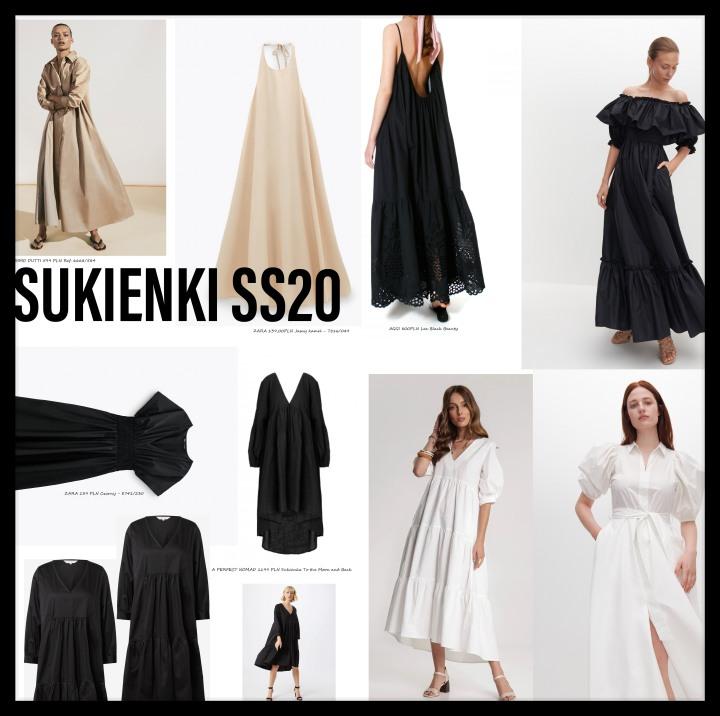 #minimalwardrobe letnie sukienki SS2020 –BAWEŁNA